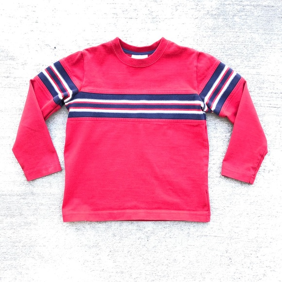 Hanna Andersson Other - Hanna Andersson Boys Red Striped Long Sleeve Tee